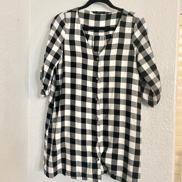 Zara Dresses & Skirts - Black and white checkered dress